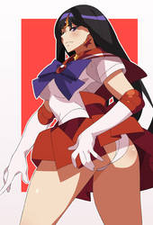 Sailor Moon - Rei Sailor Mars Fan Art by Nisego