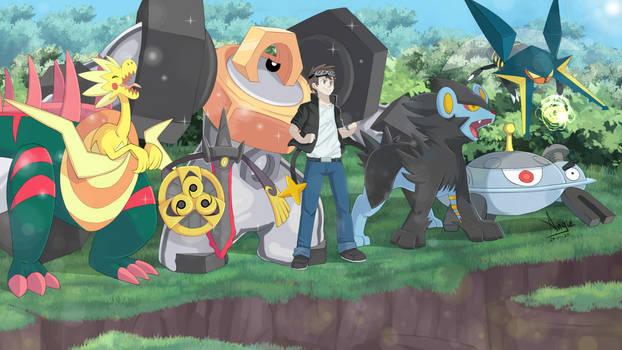 COMISSION-Pokemon trainer team