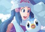 Dawn and Piplup pokemon platinum