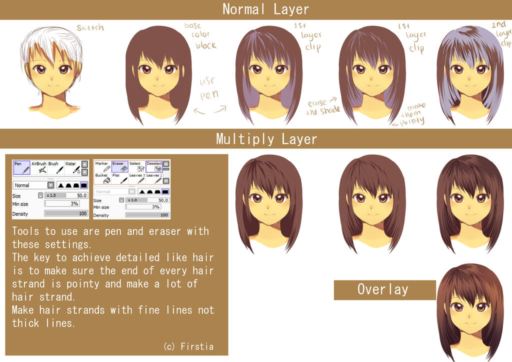Hair Cell Shading Tutorial By Firstiart On Deviantart
