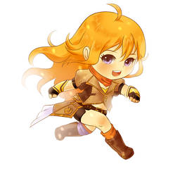 Yang RWBY Chibi Commission Sample by FirstiArt