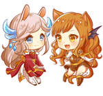 C : Sakura Miyu And Aryll