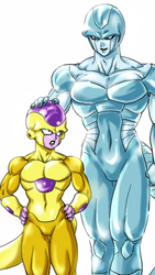 Golden Frieza and Metal Cooler