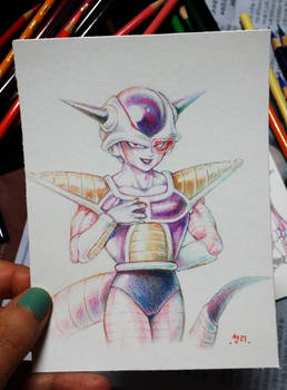 colored pencil Frieza