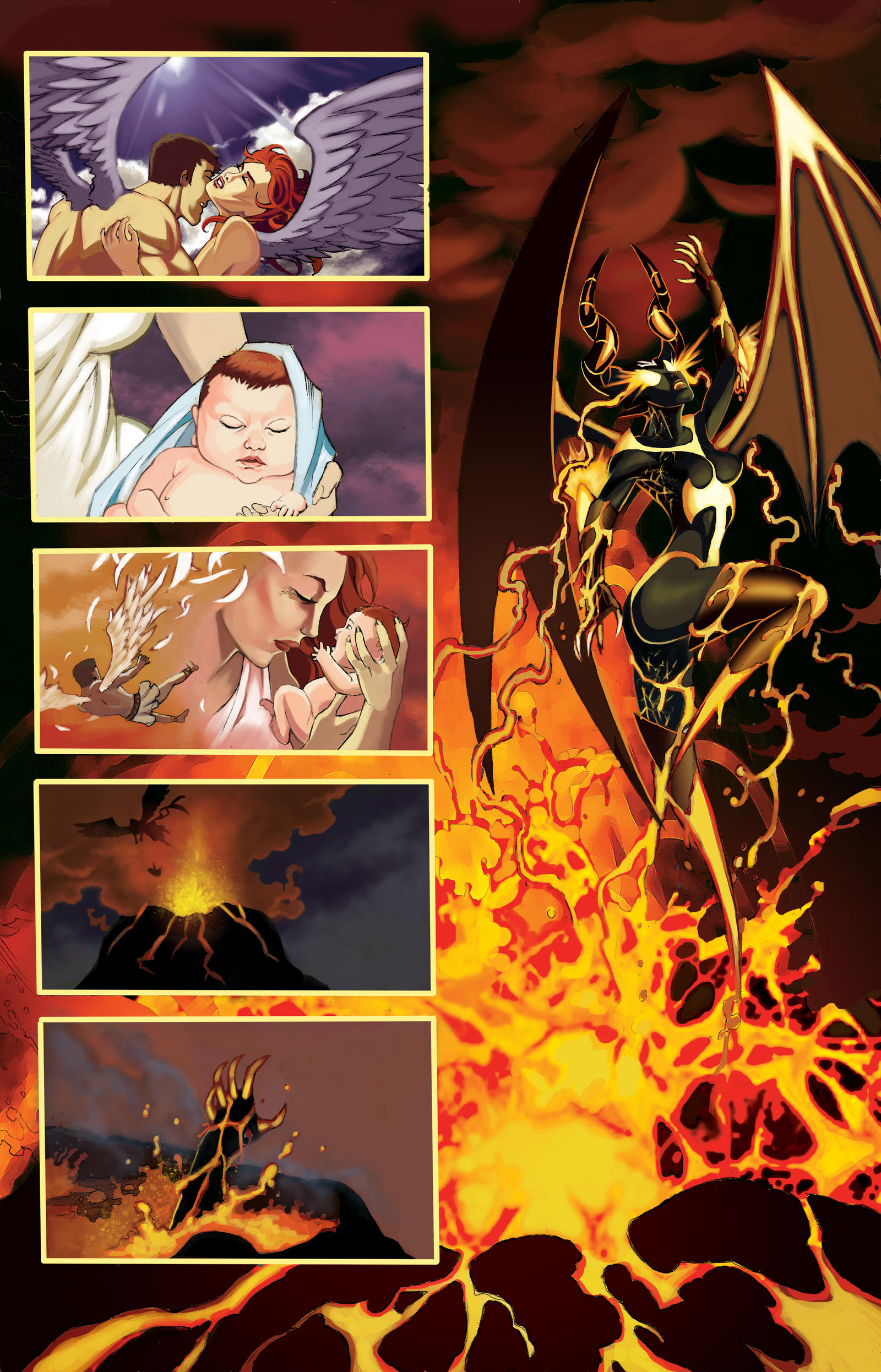 Usha Origin Story Color by John-Curtis-Ryan