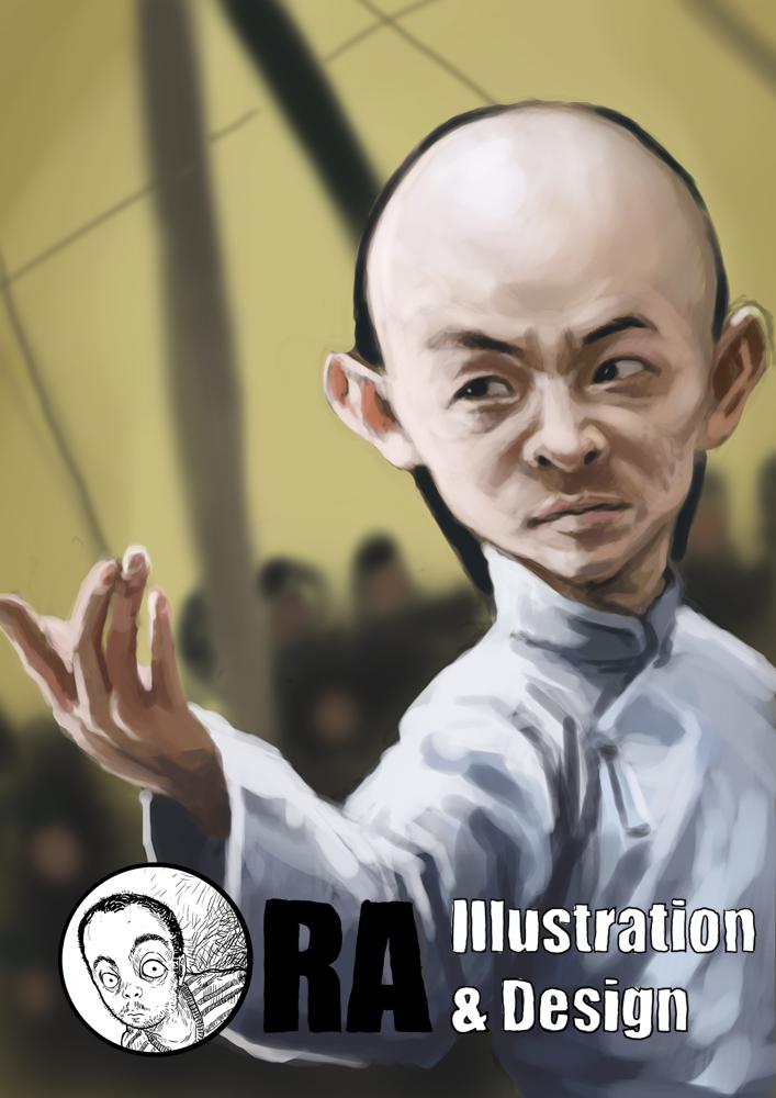 Jet Li Caricature by mrkamehameha