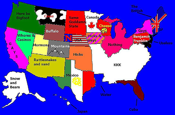 us map to a redneck by livingsoviet