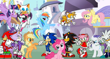 MLP X Sonic Crossover by MergedZamasuVA