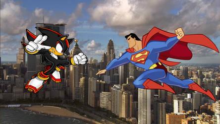 Shadow Vs Superman by MergedZamasuVA