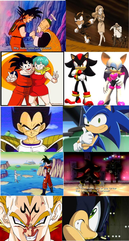 Some DBZ and Sonic Similarities Part 1 by MergedZamasuVA ...