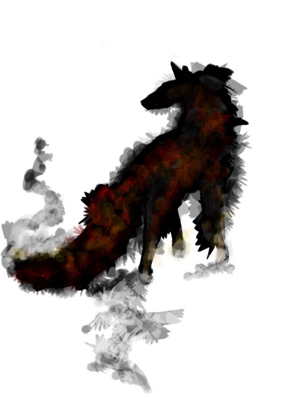 demonic fox by crissangelfreak