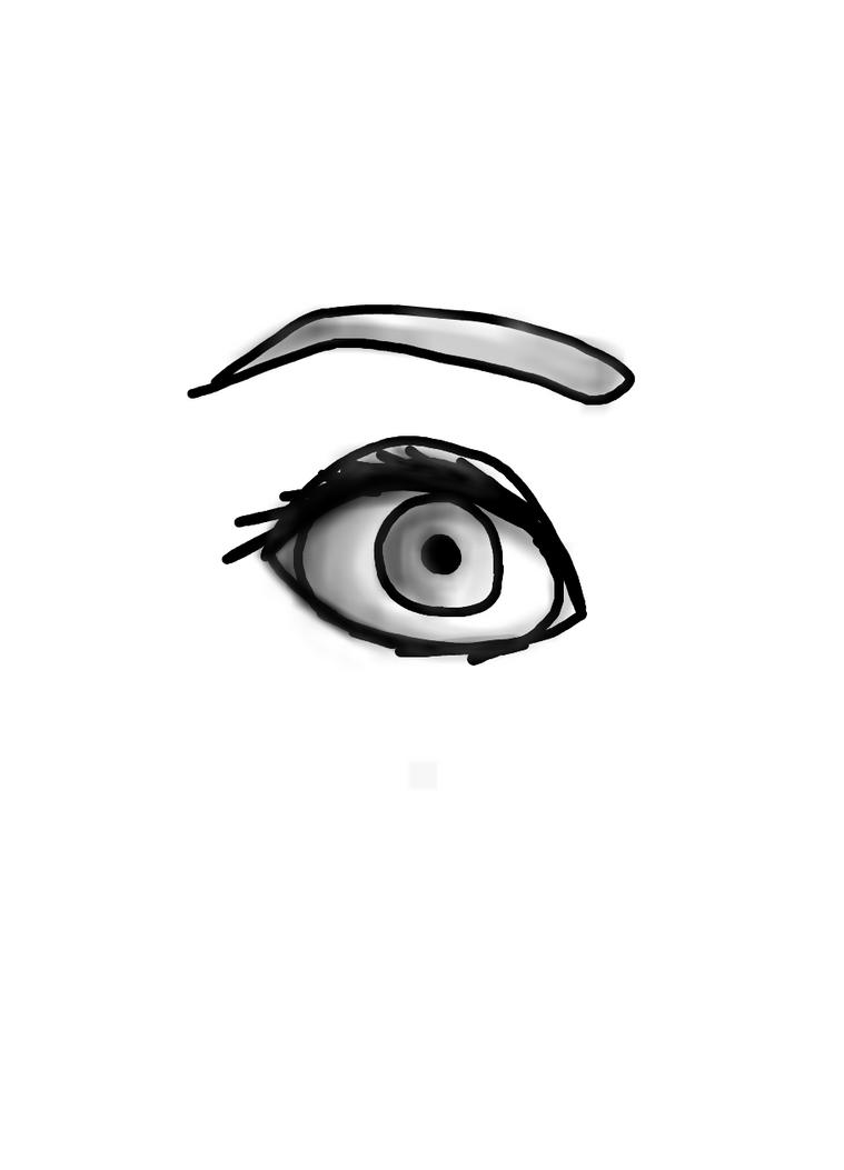 Shaded Black and White Eye by Cynderroks