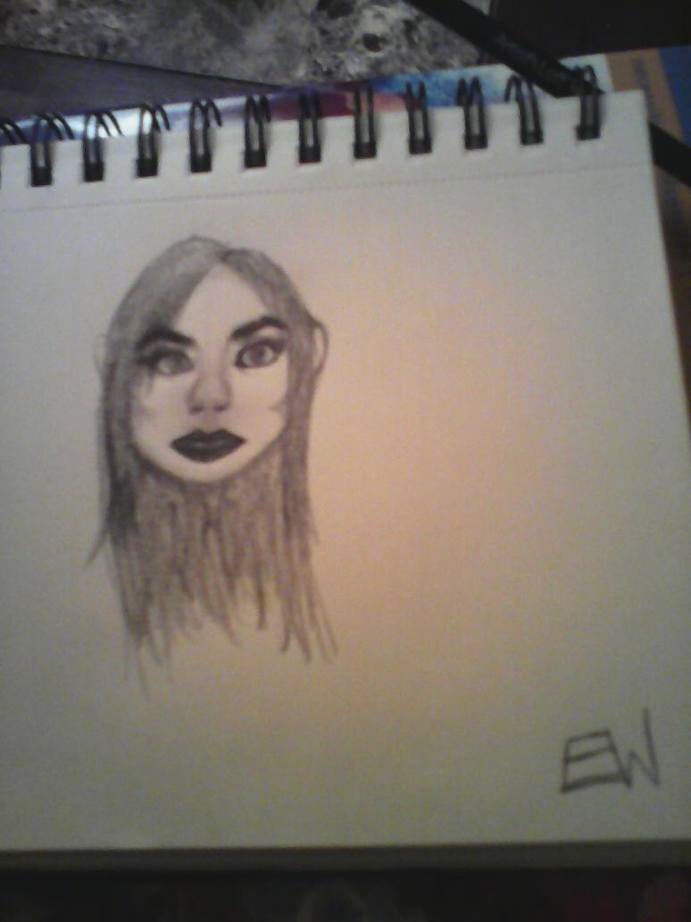 Shaded Female Human Drawing by Cynderroks
