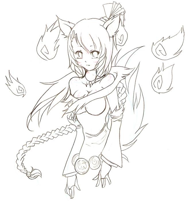 Okami 'Goddess' Amaterasu by NekoponArt