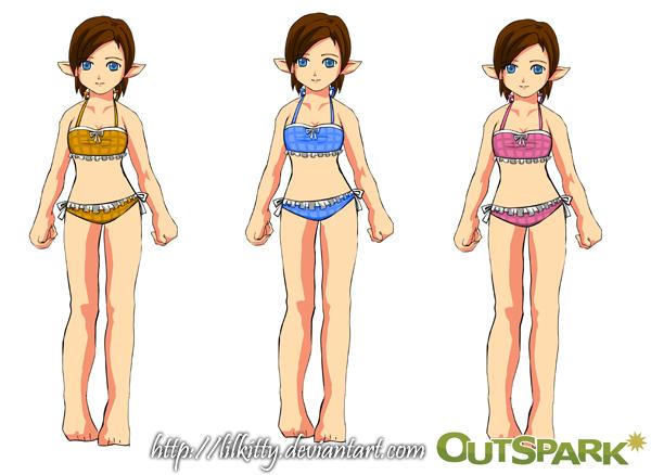 Fiesta Online: Tube Swimsuit by NekoponLove