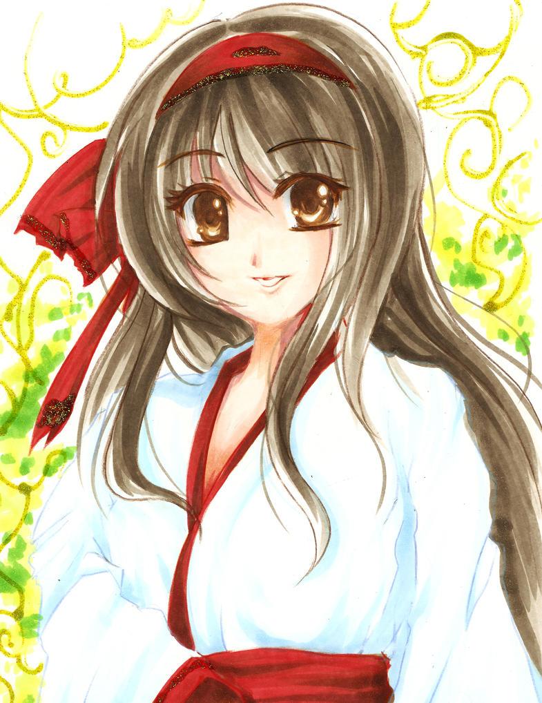 Traditional Maiden by NekoponArt