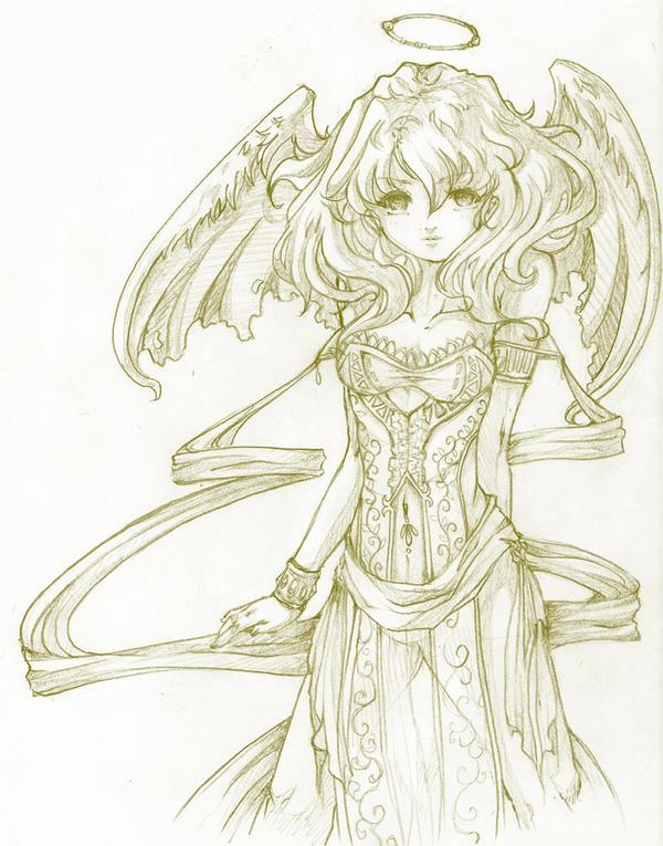 Doodle: Golden Eyes by NekoponLove