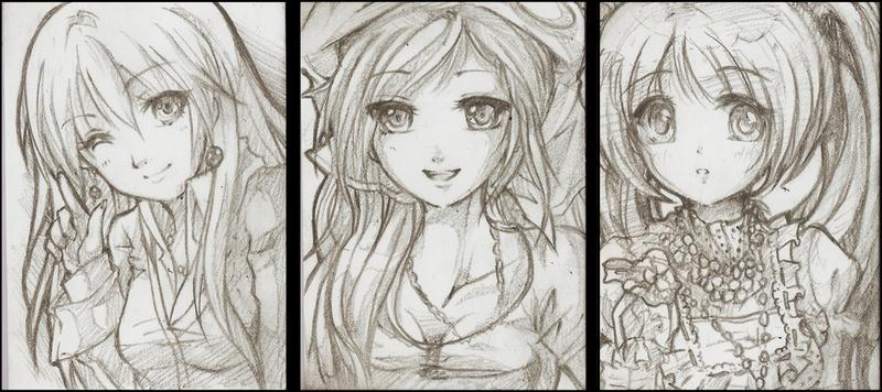 Commission: Jun, Alna, Pidge by NekoponArt