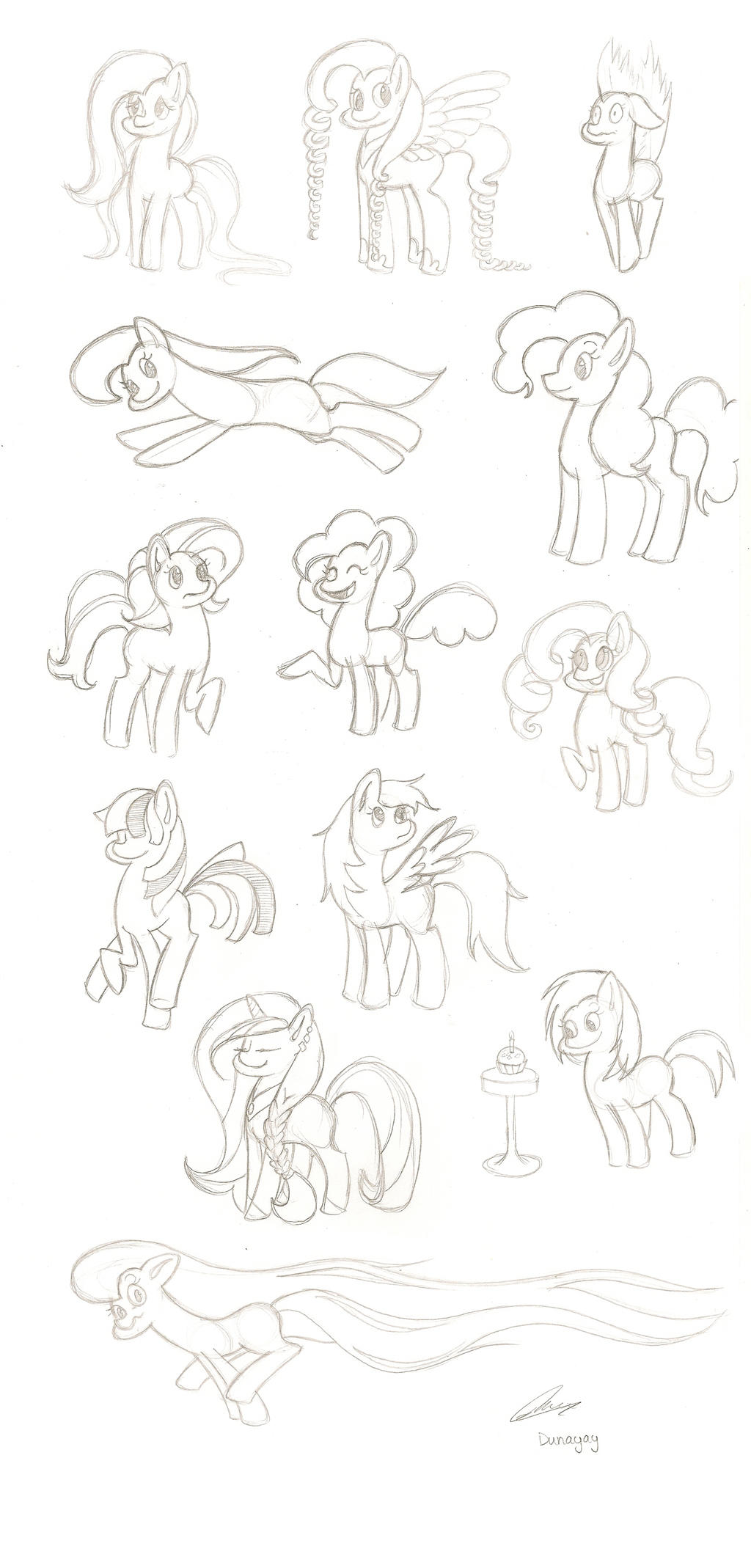 Mlp sketches - for fun! by Dunayay