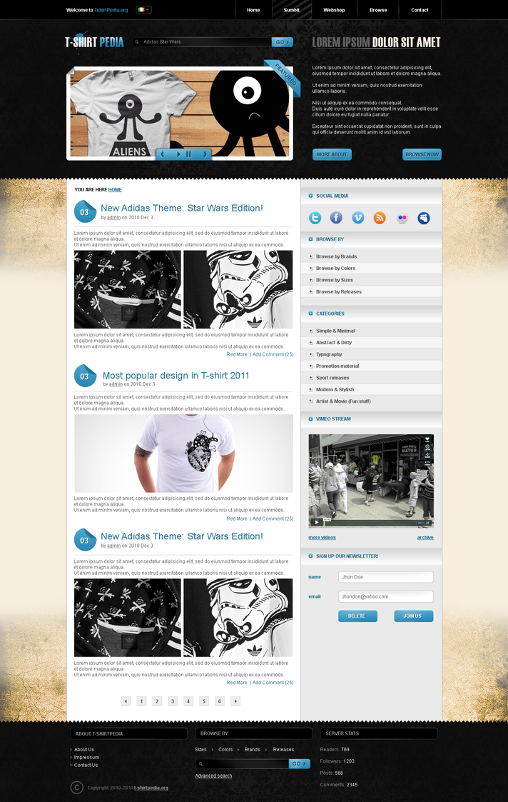 largest wordpress by pergair d34l2wj Creatively Inspired Web Interface Designs