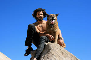 Man and Dog by heypeter