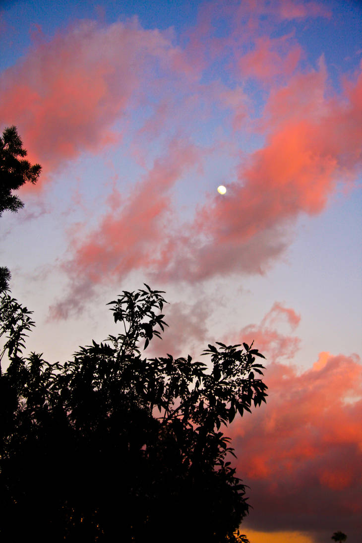 Moon and Clouds by heypeter