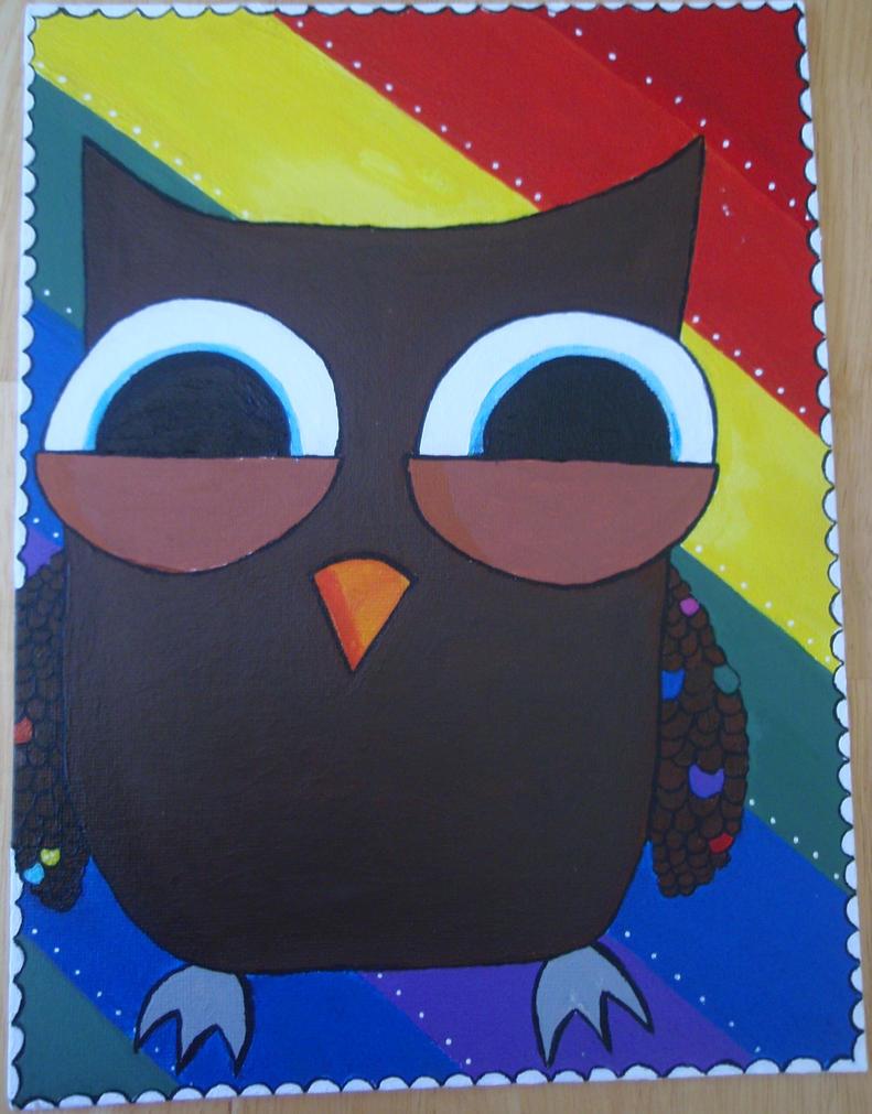 gary the owl by KittiKristy