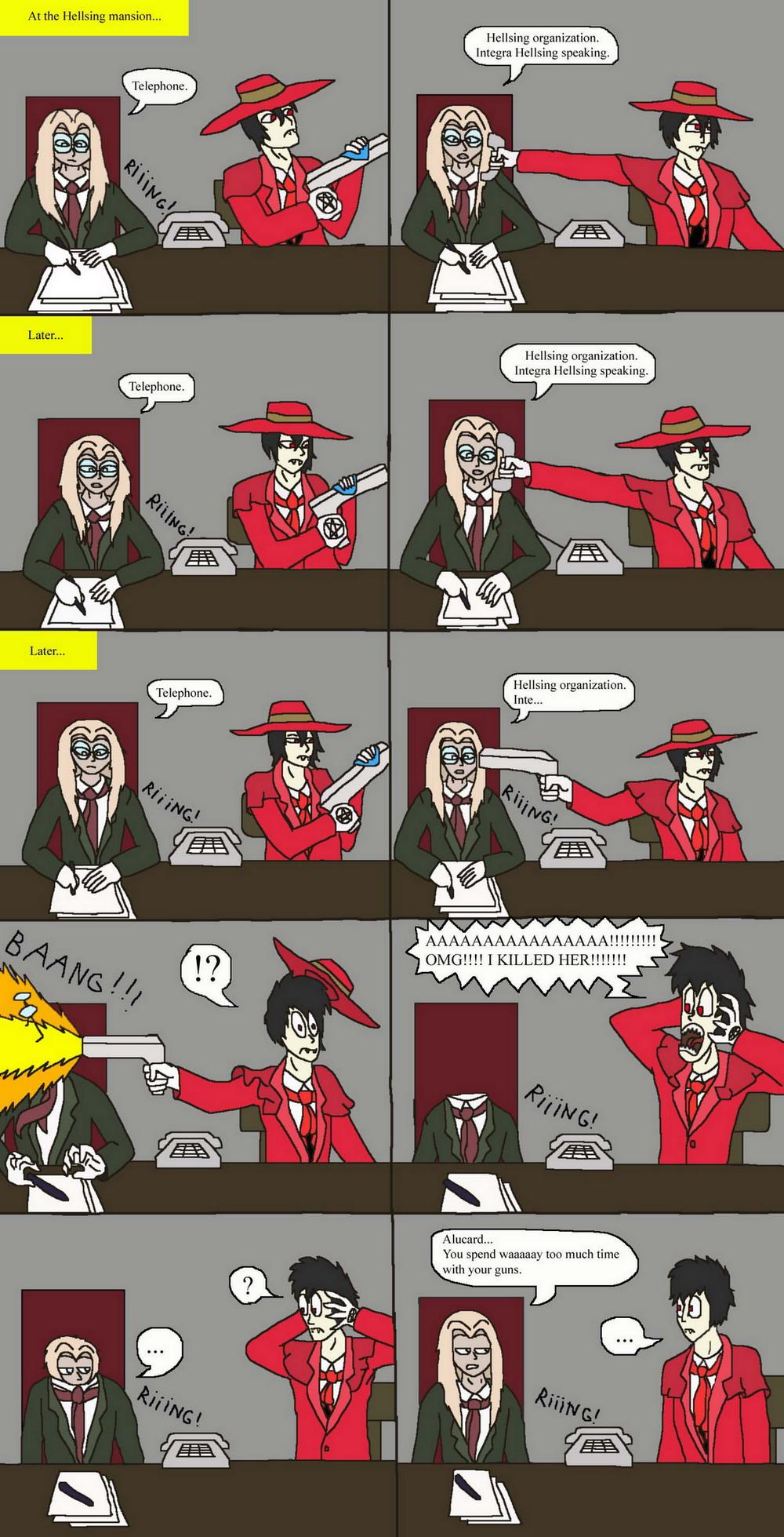 Hellsing bloopers 1-The phone