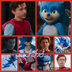 Crossover BFFs Movie Sonic and TH Spidey