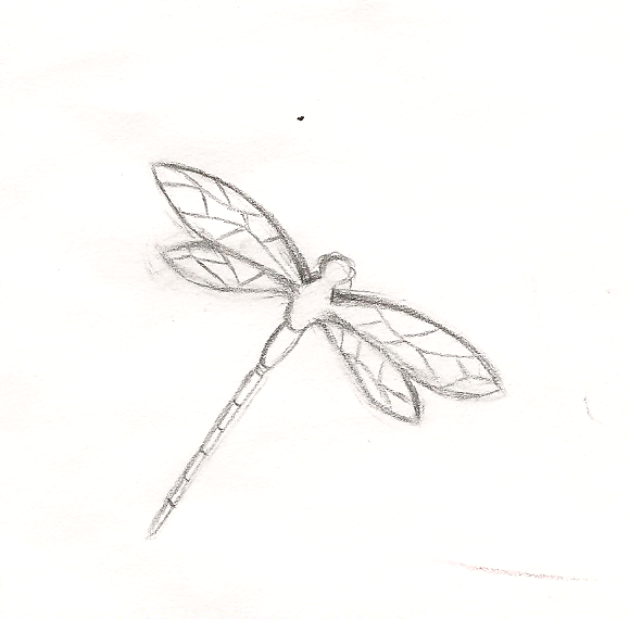 Dragonfly drawing template - photo#5