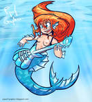 Guitarist Mermaid by camaradepopof