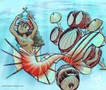 Battery Mermaid by camaradepopof