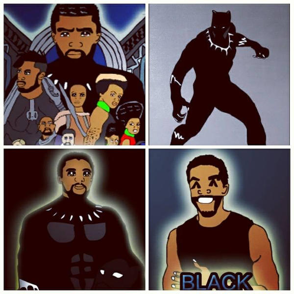 Fan Art of Black Panther by WillieD891