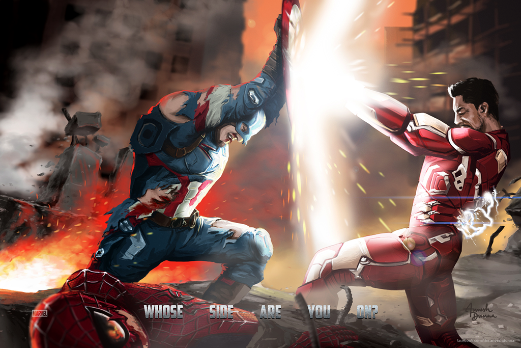 Civil War Poster by anveshdunna