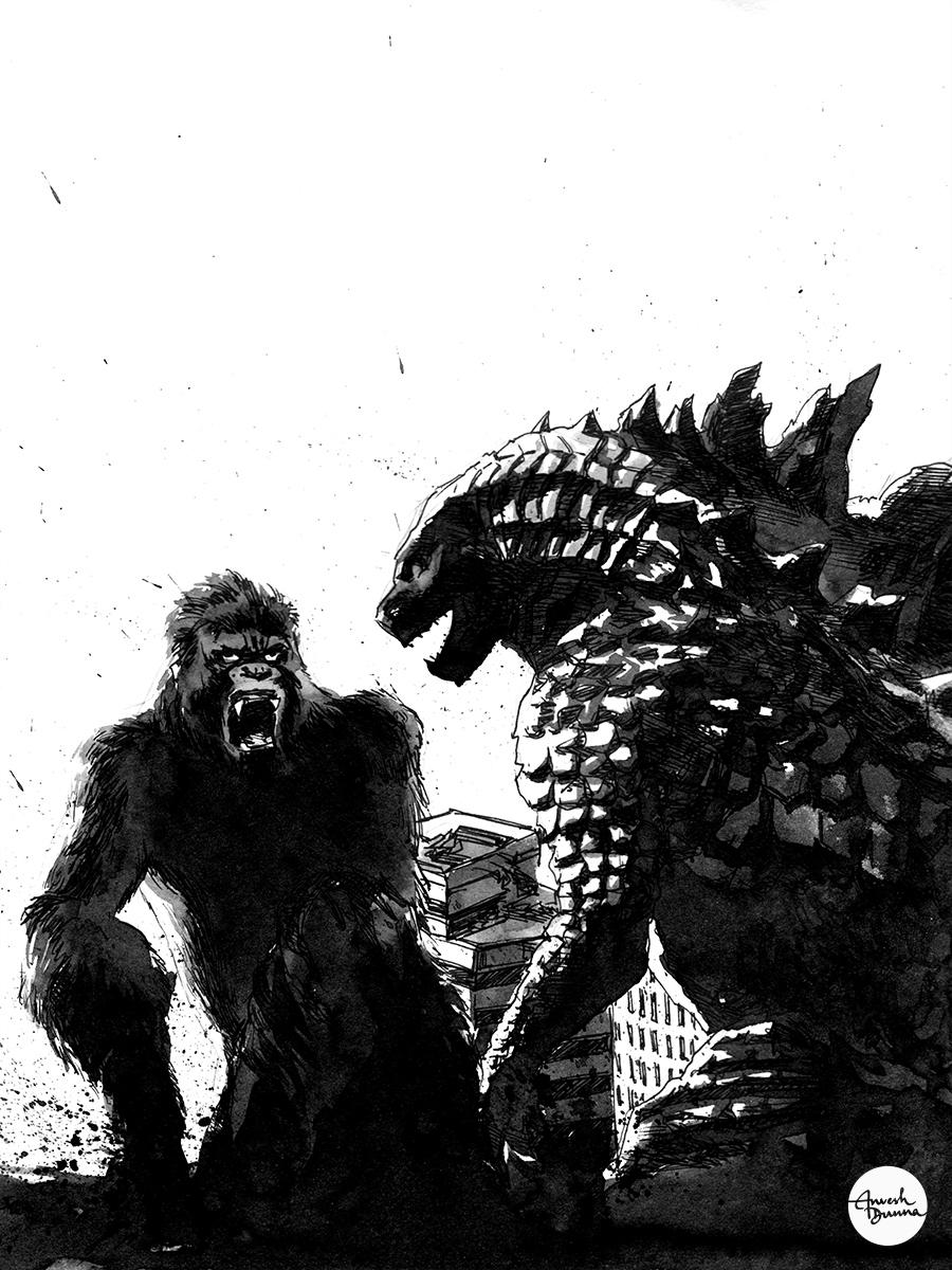 Godzilla vs. Kong by anveshdunna on DeviantArt