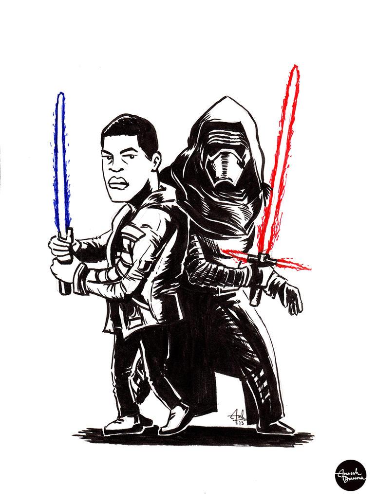 Finn vs Ren by anveshdunna