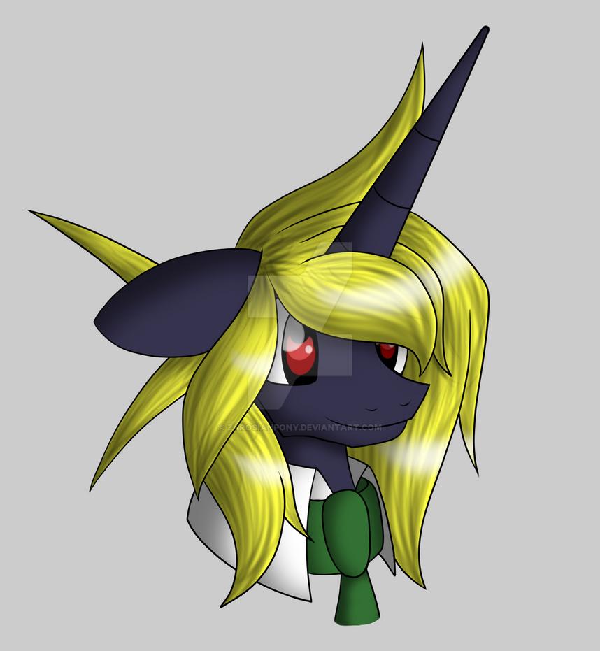 MLP - Zarosian Head (Profile pic) by ZarosianPony