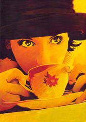 Tea Girl - warm colors study
