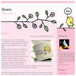 Pretty Roses - Blogger Theme