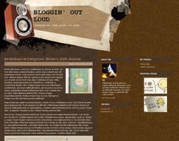 Bloggin Loud Blogger Template by arwenita