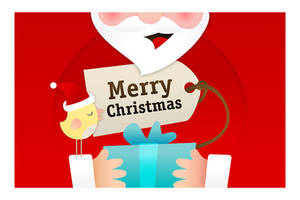 Birdie's Christmas card 01 by arwenita