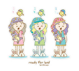 BirdieSays 'Ready for bed' by arwenita