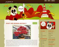 Japanese Blog design by arwenita