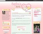 Sophia's World blog design
