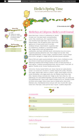 BS Spring Time Blogger Theme