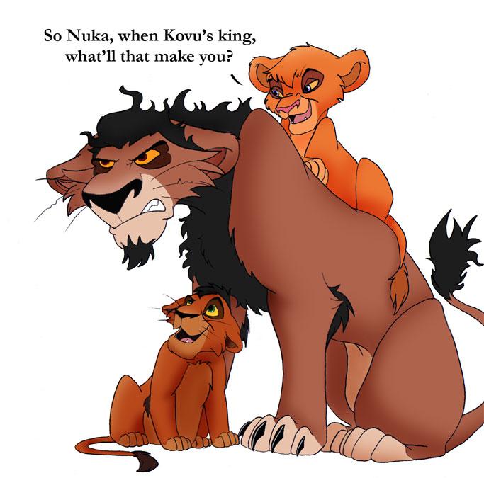 Vitani and kovu and nuka