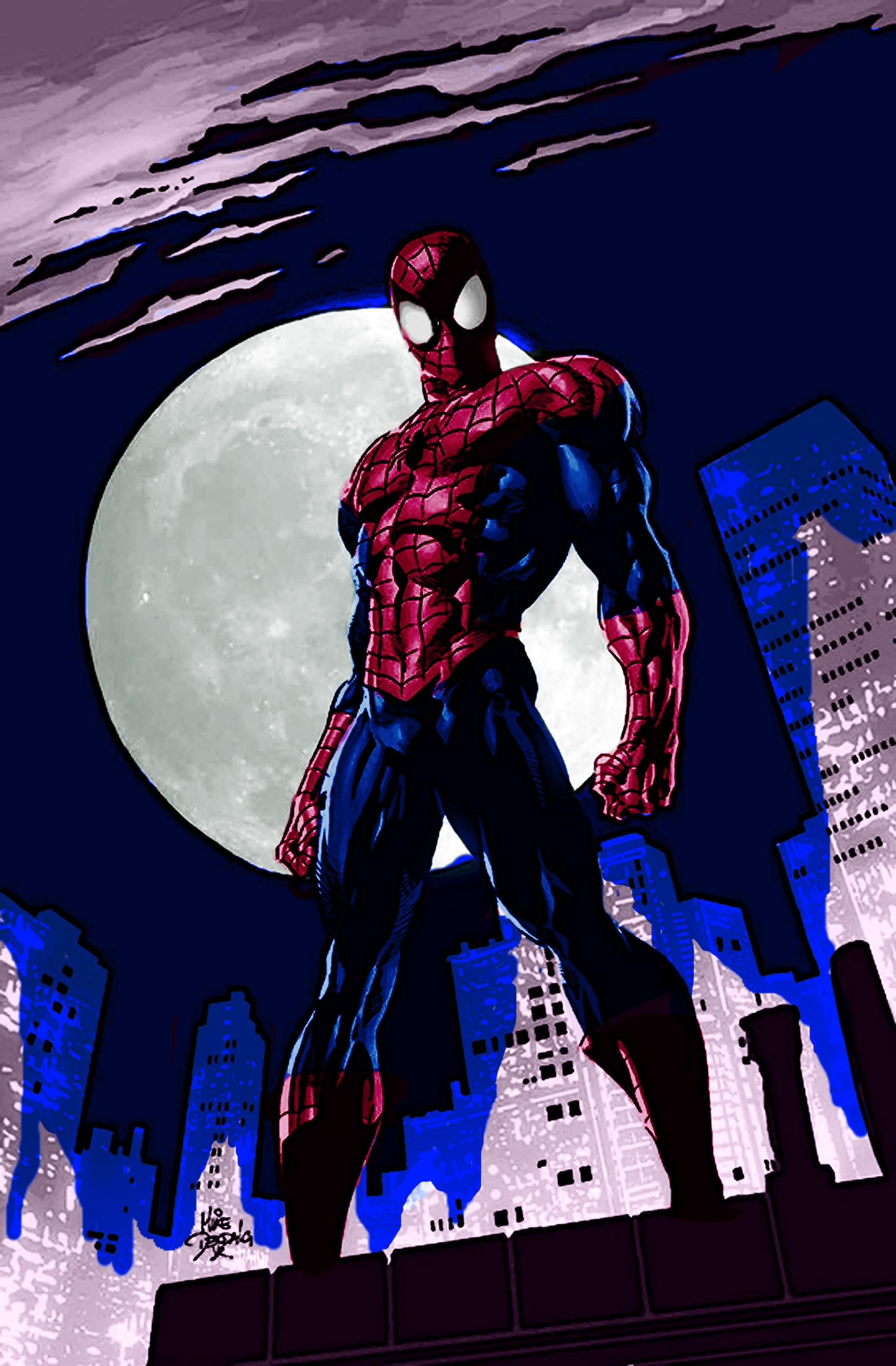 Spiderman cartoon standing - photo#8