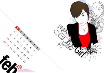 Sabby Girl Calendar : 09 ed by erixyao