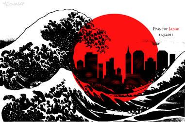 Japan Tsunami 2011 by erixyao