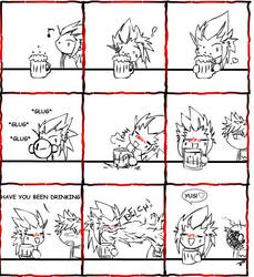 Axel Gets Drunk by LadyOCloud7